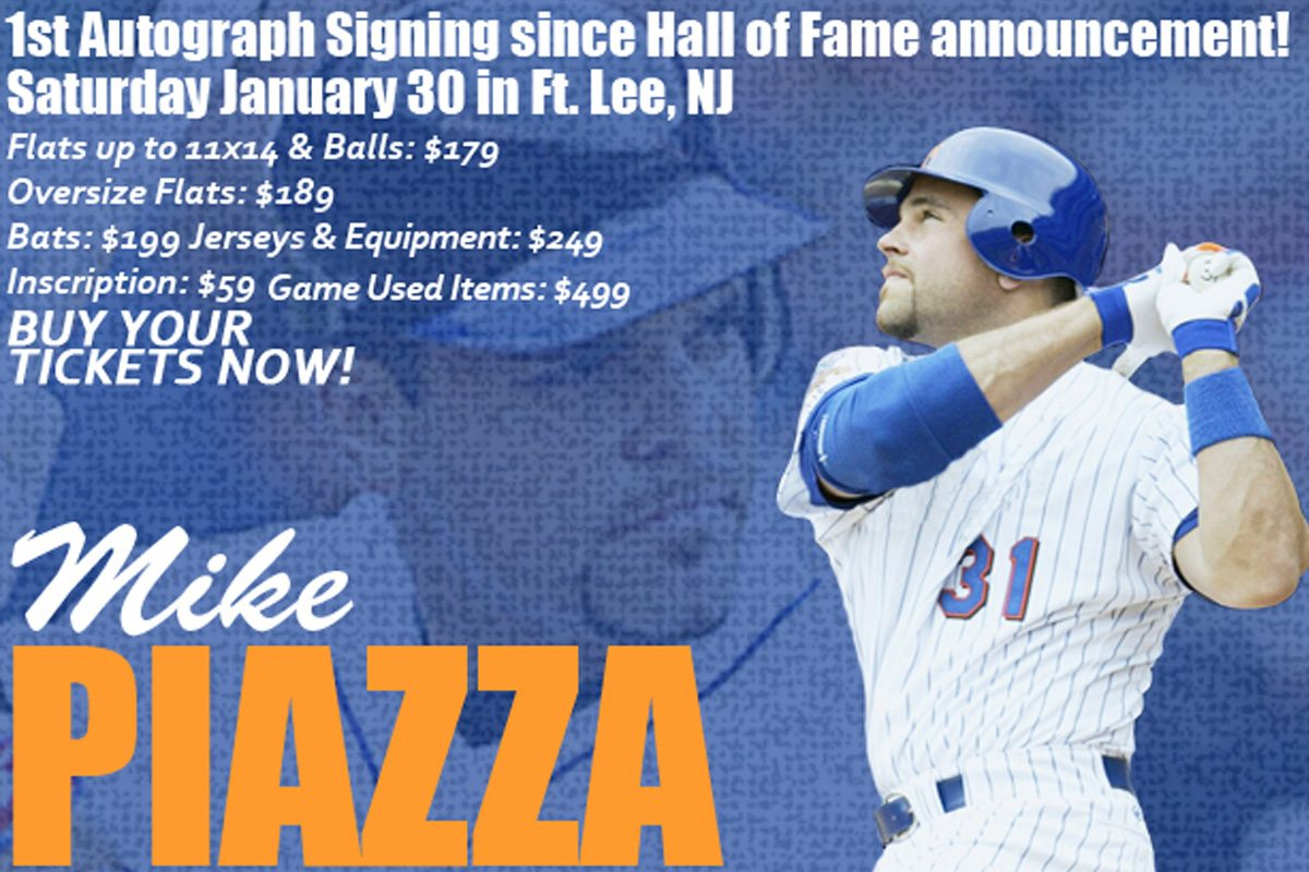 Mike Piazza Signing January 30th, 2016