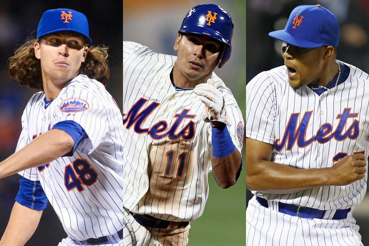 deGrom, Tejada, and Familia Public Signing